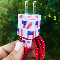 USA Flag iphone 5 6 7 Charger