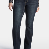 Plus Size - Denim Flex ™ Plus Embellished Pocket Bootcut Jeans - Dark Sandblast