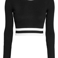 Ribbed jumper - Black - Ladies | H&M GB