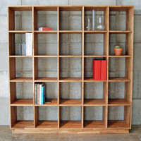LAX Series Walnut Bookcase by MASH Studios