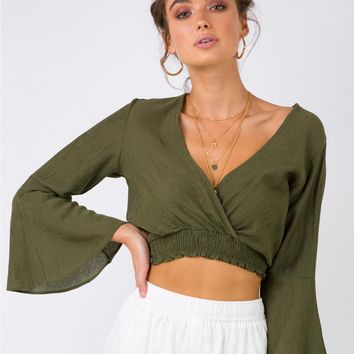 Bombs Away Wrap Top