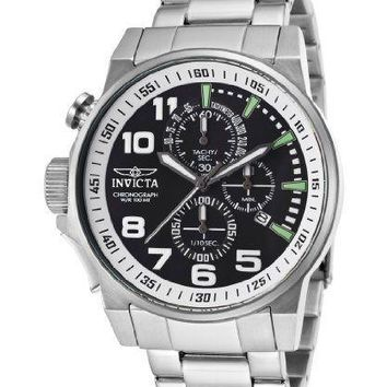 Invicta Force Chronograph Black Dial Stainless Steel Mens Watch 14955