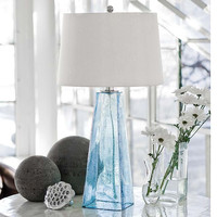 Regina Andrew Baha Blue Glass Lamp - 505-1082