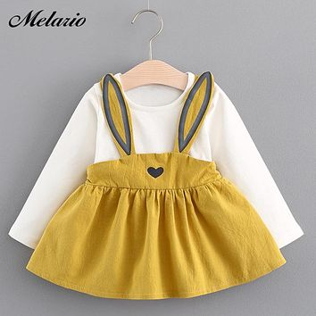 Melario Baby Dresses 2018 Summer New Baby Girls Clothes Princess Dress Cute Cotton Kids Clothing