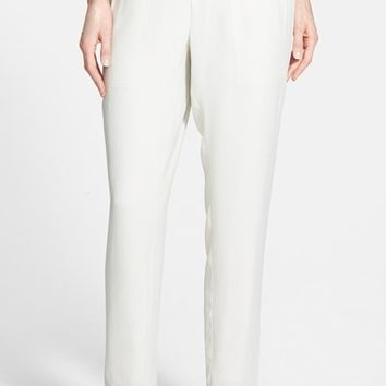 Women's Eileen Fisher Silk Crepe Ankle Pants (Online Only)