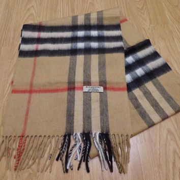 One-nice™ Burberry Unisex Classic Multi Color Checked Pattern Long Warm Cashmere Scarf