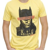 Batman Mug Shot Vintage Inspired Heather Tee - Men's Tops - Short Sleeve - Junk Food Clothing