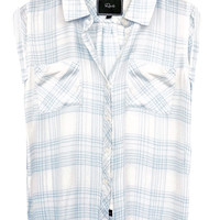 Rails Britt buttondown in ivory/sky
