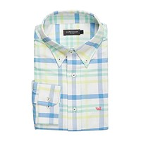 The Belfort Oxford in Blue and Mint by Southern Marsh