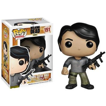 Funko Pop the Walking Dead Glenn PVC Action figure Collectible Model Toys Great quality Christmas Gift