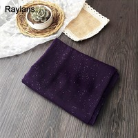Raylans Plain Color Glitter Shiny Shimmer Party Muslim Hijab Scarf Shawl Wrap-in Scarves from Women's Clothing & Accessories on Aliexpress.com | Alibaba Group