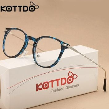 KOTTDO Oliver Peoples Eyeglasses Frames Women 2018 Glasses Frame Round Eyeglasses Men Reading Glasses Optical Glasses Eyewear