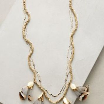 Serefina Marette Plume Necklace in Brown Motif Size: One Size Necklaces