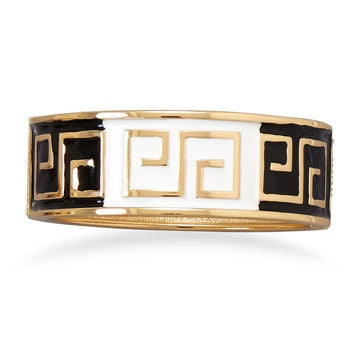 Enamel Greek Key Design Fashion Bangle Bracelet