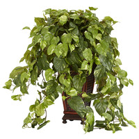 Vining Pothos w/Decorative Vase Silk Plant