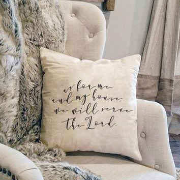 As For Me And My House - Farmhouse Scripture - Rustic Scripture