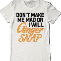 Ginger Snap (juniors)-Female White T-Shirt