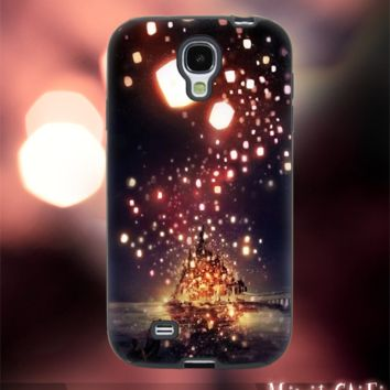 MC1111Y,8,Cartoon,Tangled,Rapunzel -Accessories case cellphone-Design for Samsung Galaxy S5 - Black case - Material Soft Rubber