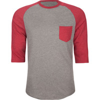 Retrofit Mens Baseball Tee Heather Grey  In Sizes