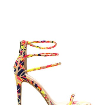 Triple The Fun Abstract Heels