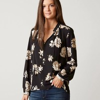 LUCKY BRAND FLORAL PARACHUTE TOP
