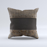 Bolted Rustic Metal Sheets Ink-Fuzed Decorative Throw Pillow