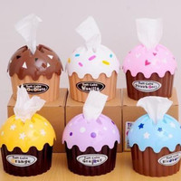 FREE SHIP Cupcake Tissue Box Holder