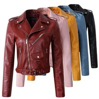 Womens Faux-Leather Jackets