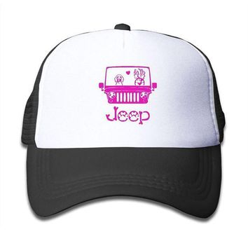 ESBON3F Qiop Nee Pink Mesh Baseball Caps Adjustable Youth Hat Jeep Dog Unisex