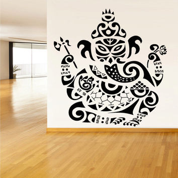 Wall Vinyl Sticker Decals Decor Art Bedroom Kids Design Mural Tribal Elephant Ganesh Ganesha Lord of Success India Budda Buda (z1533)