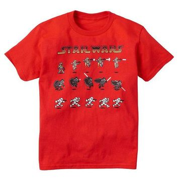 DCCKX8J Star Wars Animated Characters Tee - Boys 8-20 Size