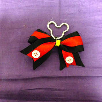 Mickey Mouse Inspired Bow Keychain by TaylorsThingamabobs on Etsy