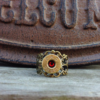 Bullet ring. Hunting jewelry