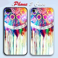 Unique Dream catcher colorful Custom iPhone 5 Case Cover