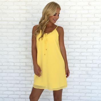 Sun's Out Shift Dress in Yellow