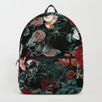NIGHT GARDEN XXV Backpacks by Burcu Korkmazyurek