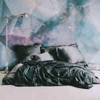 "Constellation Mural - Large Wall Mural, Space Mural, Graphic Illustration Wallpaper, 100"" x 108"""