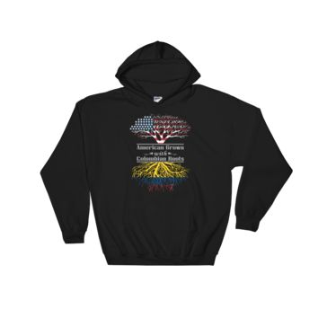 American Grown With Colombian Roots - Hooded Sweatshirt