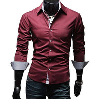 The McCoy Tailored Fit Shirt Red