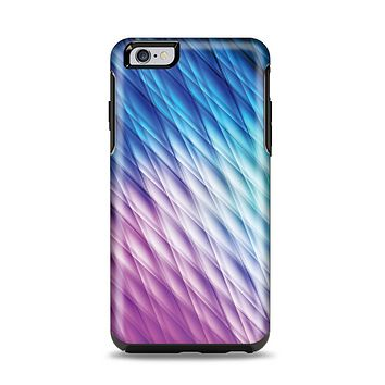 The Vibrant Blue and Pink Neon Interlock Pattern Apple iPhone 6 Plus Otterbox Symmetry Case Skin Set