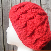 Chunky crochet beret, you pick the color!  USA shipping is free!