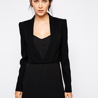 BCBGMAXAZRIA Cropped Sharp Jacket