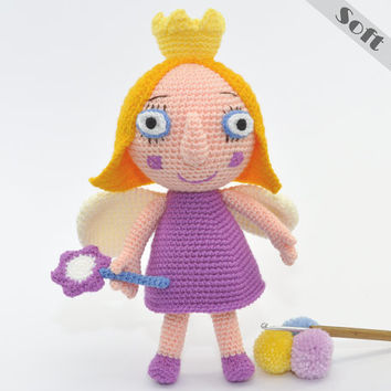 Princess Holly Soft Toy From Ben and Holly's Little Kingdom, Crochet, Amigurumi