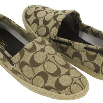 Coach Mellow Signature Flats Womens Shoes Khaki sz 8
