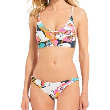 Billabong Day Drift Reversible V-Neck Cami Bikini Top & Reversible Low-Rise Hipster Bottom | Dillard's