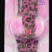 WESTCOTT HOT PINK  ANIMAL PRINT  SCISSOR HOLDER HOLSTER BELT BAG NIP