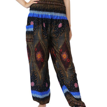 Hippies Hobo Clothing Clothes Gypsy Outfit Beach For Women Chic Pattern Bohemian Paisley Printed Yoga Pants Genie Pants Trouser Unique Pants