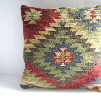 Vintage Navajo Style Woven Pillow Case with Zipper