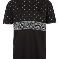 Black Cross Oversize T-Shirt - Printed T-Shirts - Men's T-shirts & Tanks - Clothing - TOPMAN USA