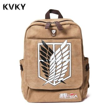 Cool Attack on Titan Anime  Pringting Backpack For Teenagers Boys Girls Cute Mikasa Ackerman School Bags Student Backpacks AT_90_11